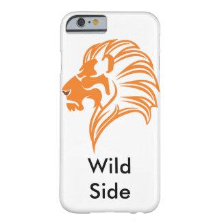 Lado selvagem - leão capa barely there para iPhone 6