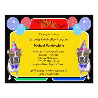 Ladrador do aniversário do pugilista convite personalizado