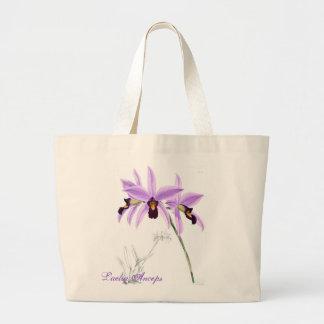 Laelia Anceps da orquídea Bolsas Para Compras