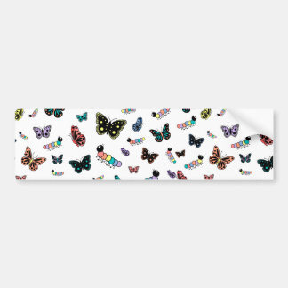 Lagartas bonitos borboletas dos desenhos adesivo