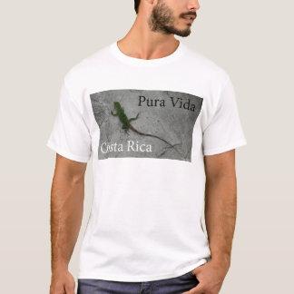 Lagarto na parede Costa Rica Vida Camiseta