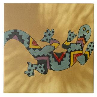 Lagarto pintado do geco na parede, Tucson,