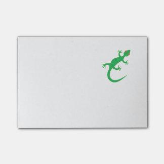 Lagarto verde-claro post-it note