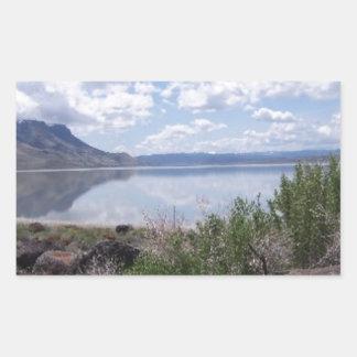 Lago Abert outback de Oregon Adesivo Retangular