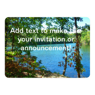 Lago arborizado wilderness convite 12.7 x 17.78cm