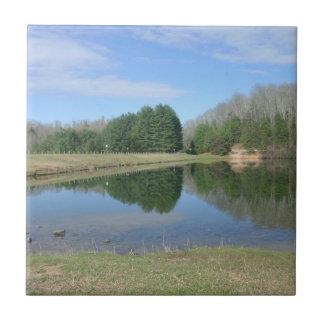 Lago azul azulejo quadrado pequeno