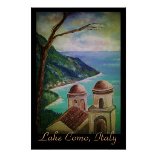 Lago Como, poster de Italia