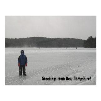 Lago congelado winter, cartão da fotografia