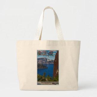 Lago crater - poster informativo sacola tote jumbo