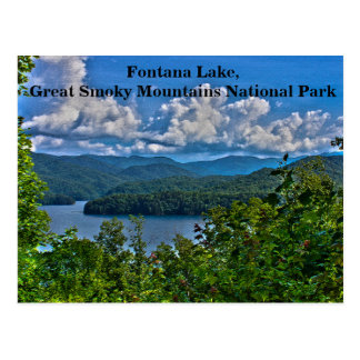 Lago Fontana, cartão de Great Smoky Mountains