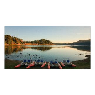 Lago Furnas no por do sol Cartão