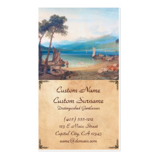 Lago Genebra e montagem Blanc Joseph Mallord Cartão De Visita