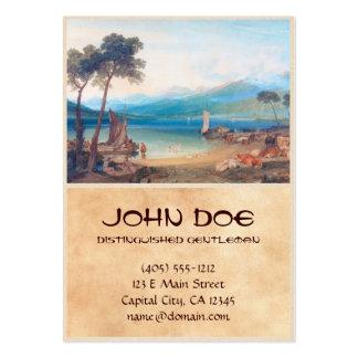 Lago Genebra e montagem Blanc Joseph Mallord Cartão De Visita Grande