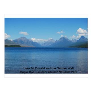 Lago McDonald/cartão do lançamento barco de Apgar Cartão Postal