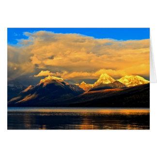 Lago McDonald Dunset Cartão Comemorativo