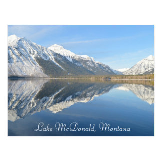 Lago McDonald, lembrança do cartão de Montana