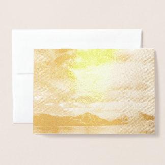 Lago McDonald no design da folha de ouro Cartão Metalizado