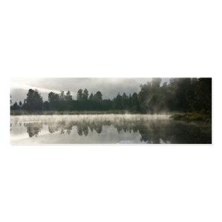 Lago mirror, amanhecer modelo cartoes de visita