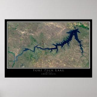 Lago Montana Peck do forte da arte do satélite do Poster