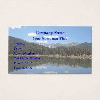 Lago Mt Evans Colorado echo Cartão De Visitas