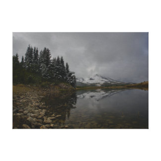 Lago na queda em canvas