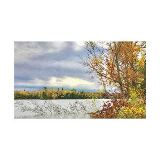 Lago nas quedas de cristal, MI fortune em canvas