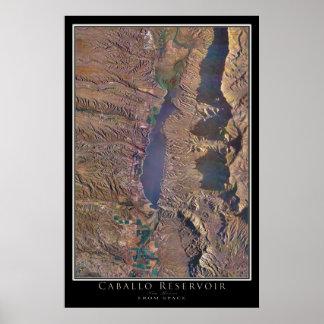 Lago New mexico cabal da arte do satélite do Poster