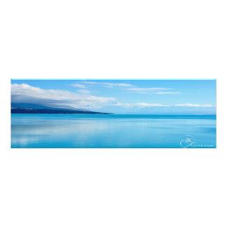 Lago Pukaki Nova Zelândia: poster neutro Impressão De Foto