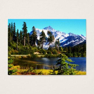 Lago reflection cartão de visitas