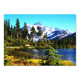 Lago reflection convite 12.7 x 17.78cm