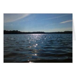 Lago Sparkling Cartão Comemorativo