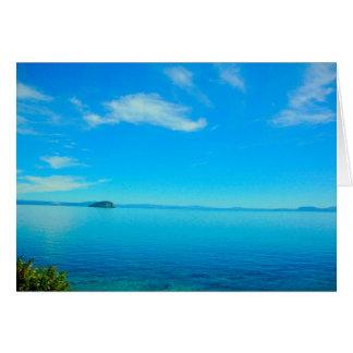 Lago Taupo, cartão vazio de Nova Zelândia
