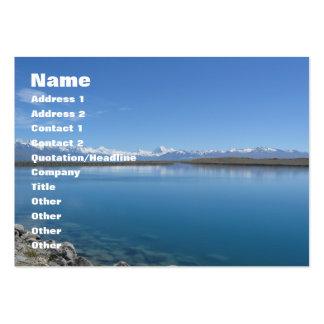 Lago Tekapo… Nova Zelândia Cartões De Visita