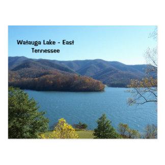 Lago Watauga no cartão do leste de Tennessee