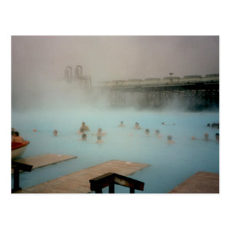 Lagoa azul, Islândia Cartão Postal