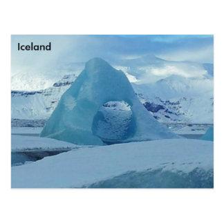 Lagoa da geleira de Jökulsárlón, Islândia Cartão Postal