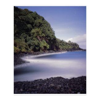 Lagoa do azul de Hana Maui Havaí Fotografia