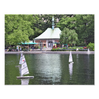 Lagoa do barco do Central Park Impressão Fotográficas