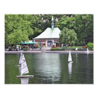 Lagoa do barco do Central Park Impressão De Foto