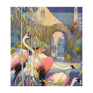 Lagoa do flamingo impressão em tela
