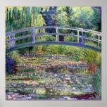 Lagoa do lírio de água de Monet-The Poster
