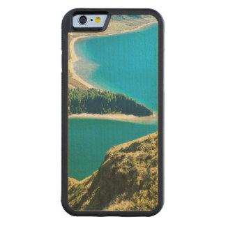 Lagoa faz Fogo Capa De Carvalho Bumper Para iPhone 6