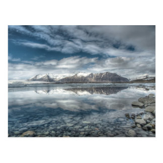 Lagoa glacial de Jokulsarlon, Islândia Cartão Postal