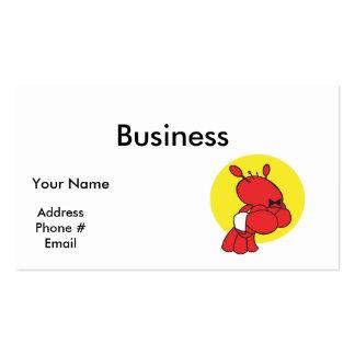lagosta bonito do garçom cartão de visita