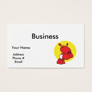 lagosta bonito do garçom cartão de visitas