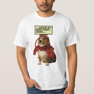 Lagosta vermelha do forte do cão camiseta