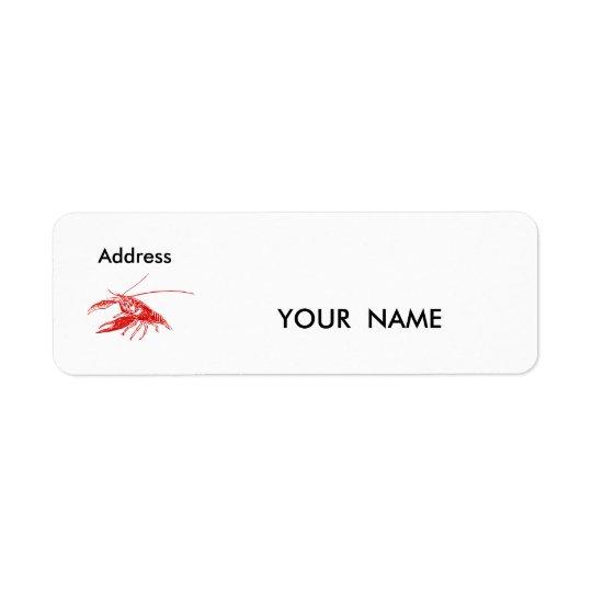 lagostins, etiqueta etiqueta endereço de retorno