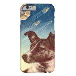 Laika o exemplo do iPhone 6 do cão do espaço do Capa Barely There Para iPhone 6
