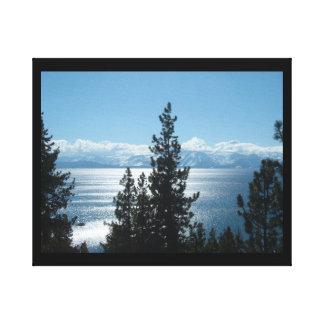 Lake Tahoe envolveu a lona projeta sua arte! Impressão De Canvas Envolvida