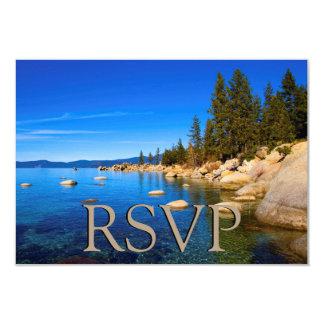 Lake Tahoe que Wedding RSVP Convite 8.89 X 12.7cm